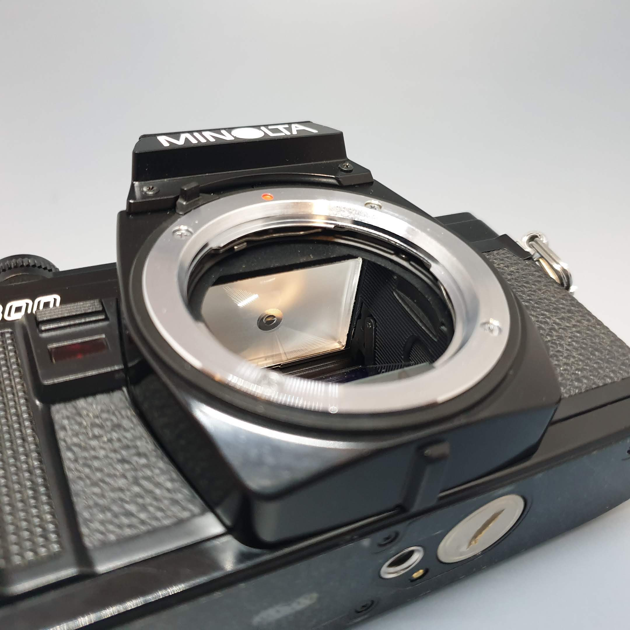 Minolta X300 Black with 50mm 1.7 MC Rokkor-PF lens - Greenwich Cameras and Film