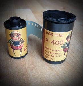 BCG P-400 Black & White film, cinema stock, 35mm, 36 exposures - Greenwich Cameras and Film