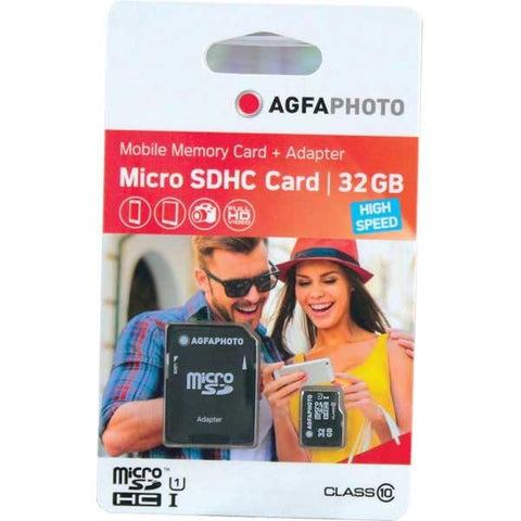 AgfaPhoto 32GB Micro SDHC UHS-1 Class 10 +Adapter