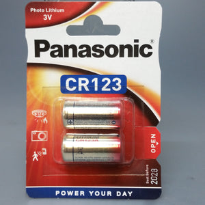 Panasonic CR123 3 Volts Lithium (pack of 2)