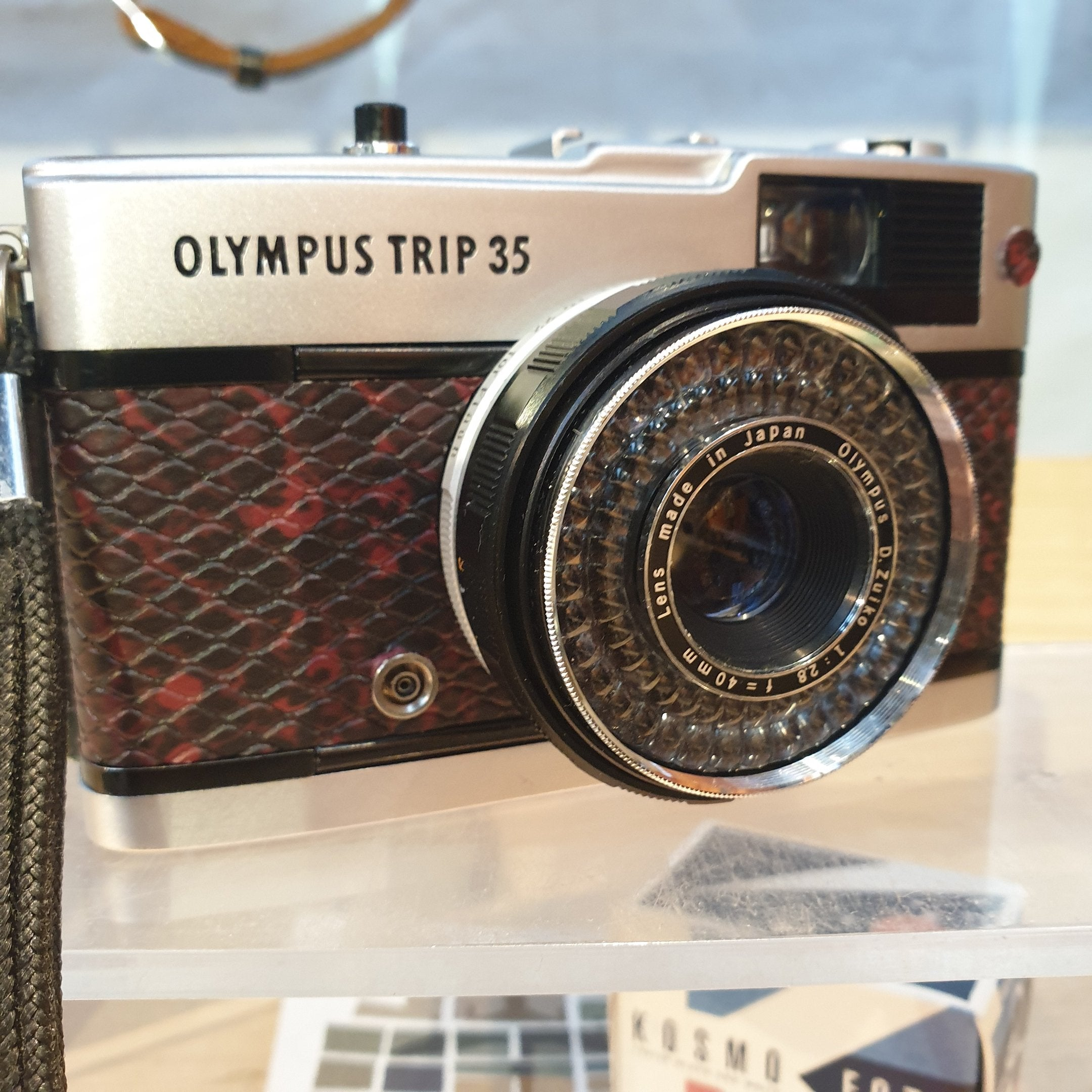 Olympus TRIP 35 red snake (5002063) - Greenwich Cameras and Film