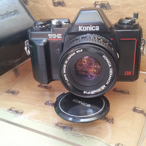 Konica TC-X with Hexanon 50mm f1.8, 35mm camera, Beginner