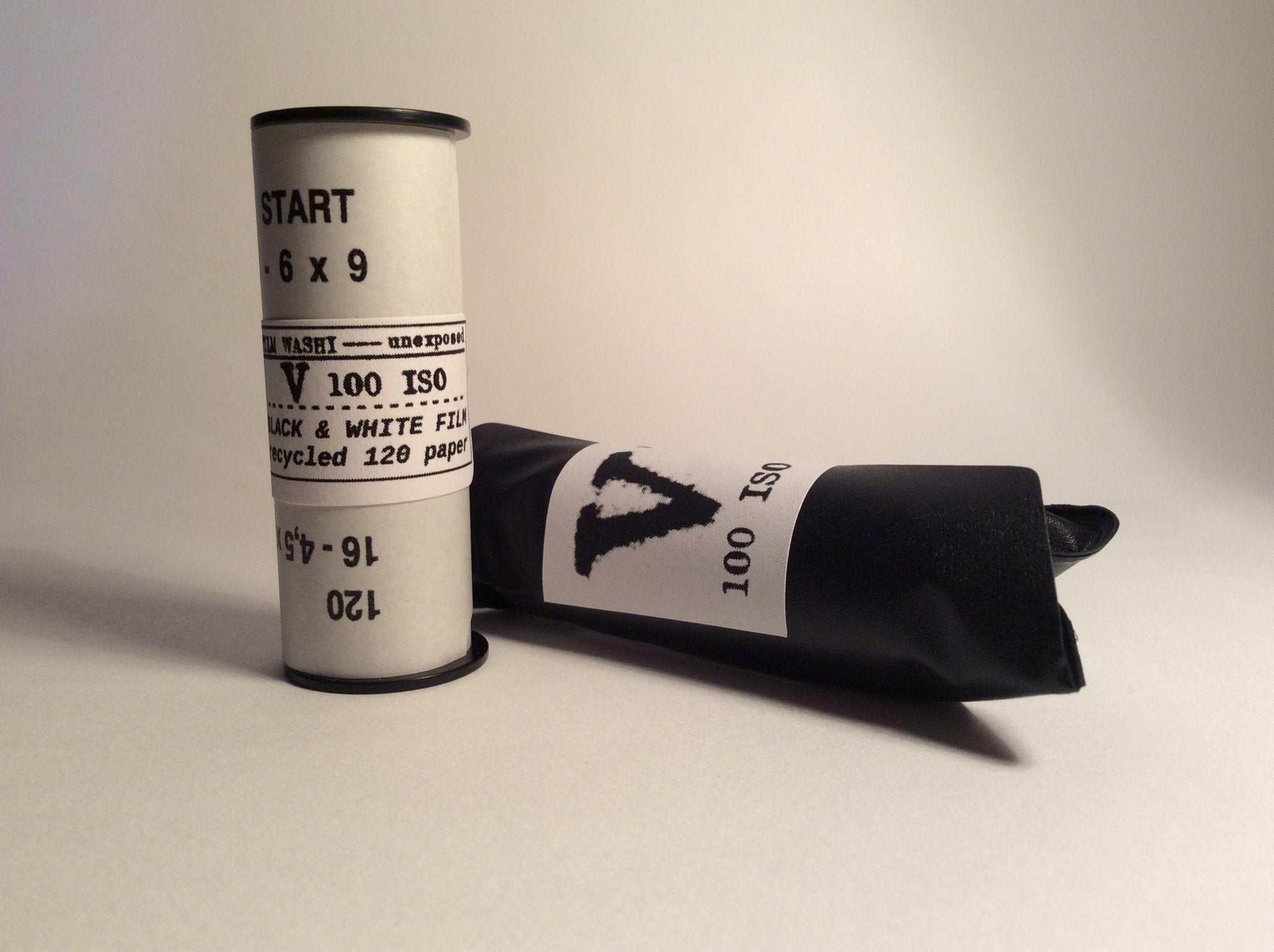 "Film Washi ""V""<br>ISO100 Black & White<br>Handcrafted Japanese paper film<br>Medium Format<br>120 Roll Film"