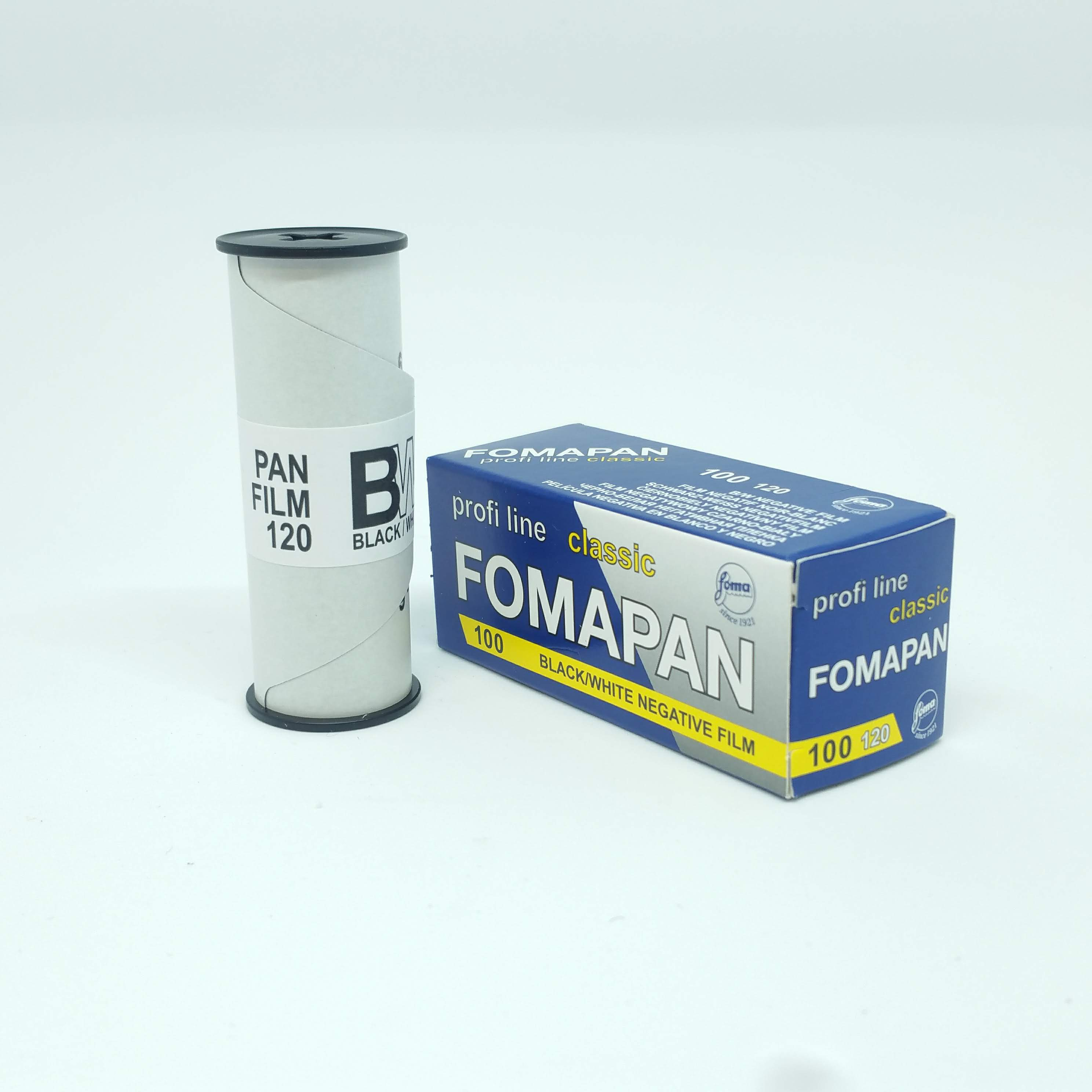 Fomapan 100 Classic 120<br>ISO 100 Black & White Film<br>Medium Format 120