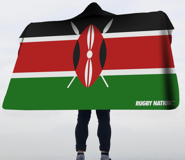 Hooded Blanket - Kenya Flag