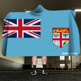 Hooded Blanket - Fiji Flag
