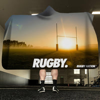 Hooded Blanket - Rugby Pitch