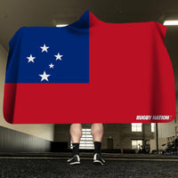 Hooded Blanket - Samoa Flag