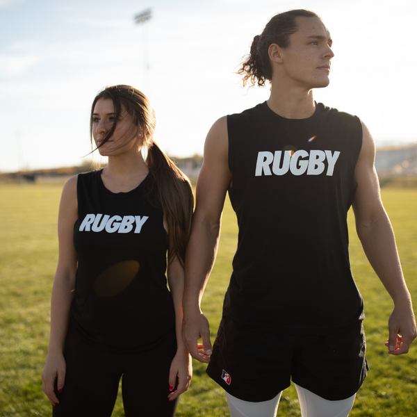 Ladies' Flowy Scoop Muscle Tank- Rugby Icon