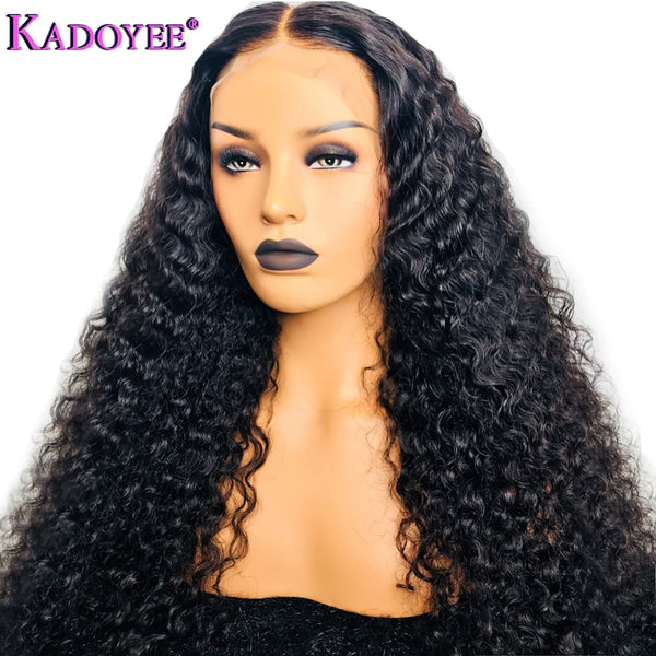 13x6 Deep Part Pre Plucked Curly Lace Front 100% Human Hair Wigs With Baby Hair For Women Indian Remy Hair Wig 130% 150% Density