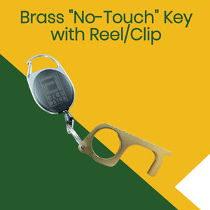 "Brass ""No-Touch"" Key with Reel/Clip"