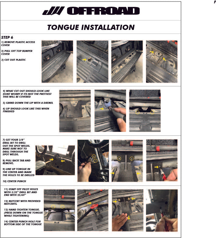 jw offroad tire carrier instructions