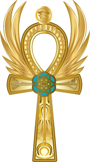 Goddess of the Charms Logo Cross