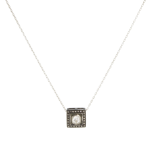 Diamond Square Pendant