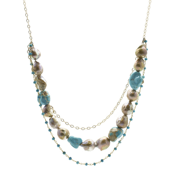 Baroque Pearl & Turquoise