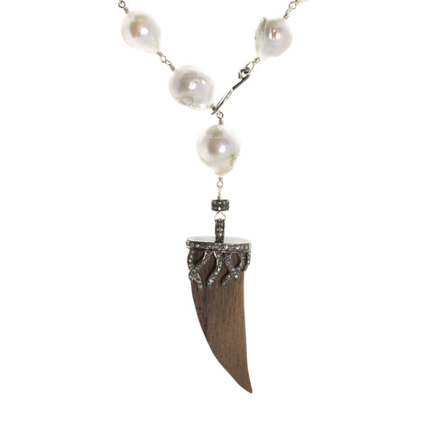 Horn & Pearl Necklace