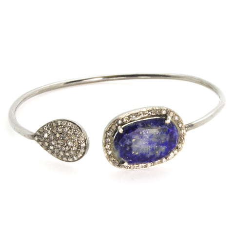 Lapis & Diamond Bangle