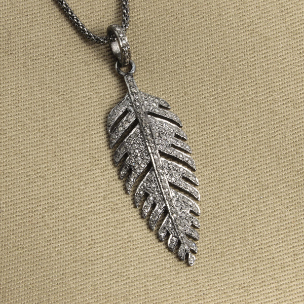 Diamond Silver Feather