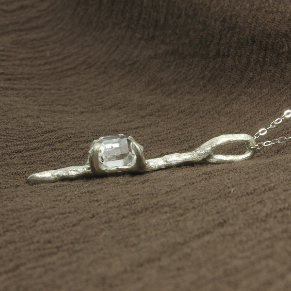 Herkimer and Diamond Pendant
