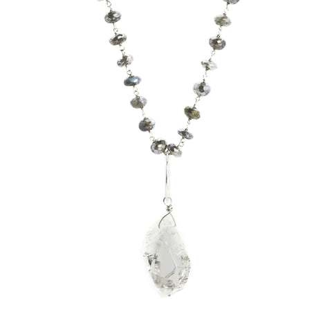 Herkimer Diamond & Labradorite Necklace