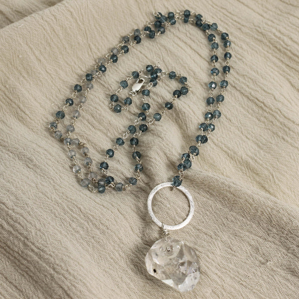 Herkimer Diamond Drop Necklace