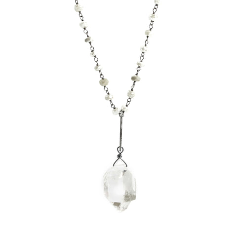 Silverite & Herkimer Necklace