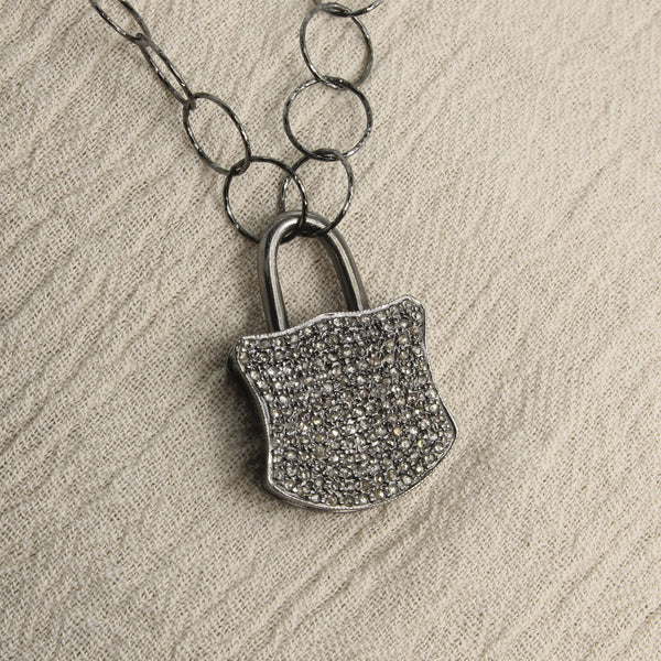Diamond Lock Pendant