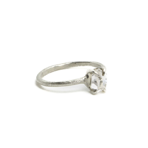 Petite Natural Herkimer Diamond Ring