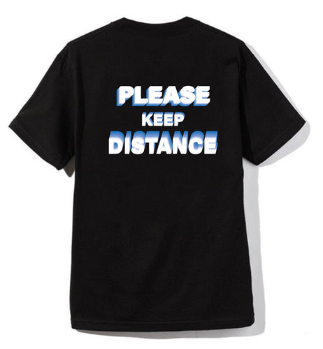 Amongest Black Tee ' Distance'