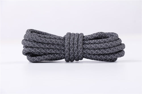DARK GREY REFLECTIVE ROPE LACES