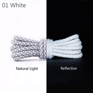 WHITE REFLECTIVE ROPE LACES