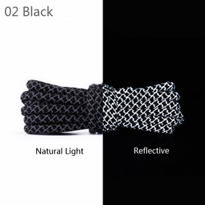 BLACK REFLECTIVE ROPE LACES