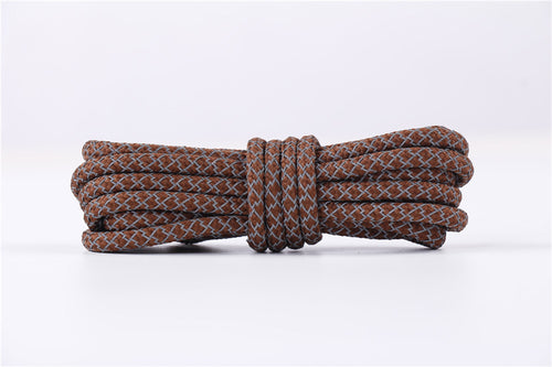 BROWN REFLECTIVE ROPE LACES