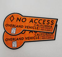 CA HOV No Access - Orange 2020