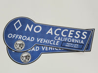 CA HOV No Access Decal Sticker