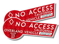 CA HOV No Access - Red Pair Decal Sticker