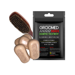Reds Groomed Man Shampoo Bar and Brush Bundle
