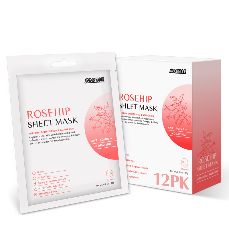ROSEHIP SHEET MASK (12-Pack)