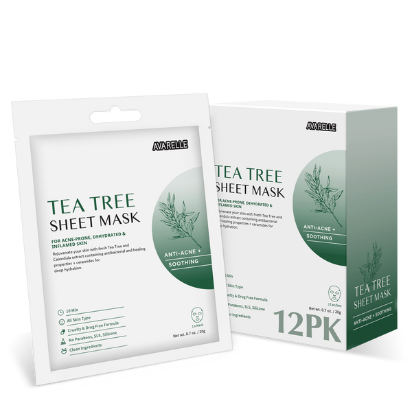 TEA TREE SHEET MASK (12-PACK)