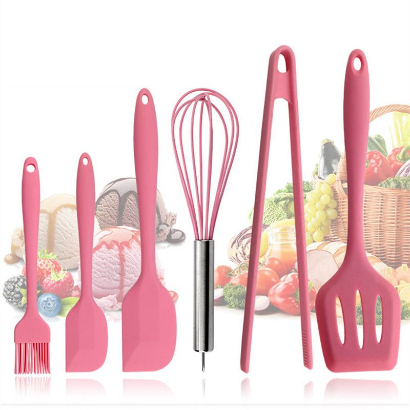 Pink Silicone Cookware