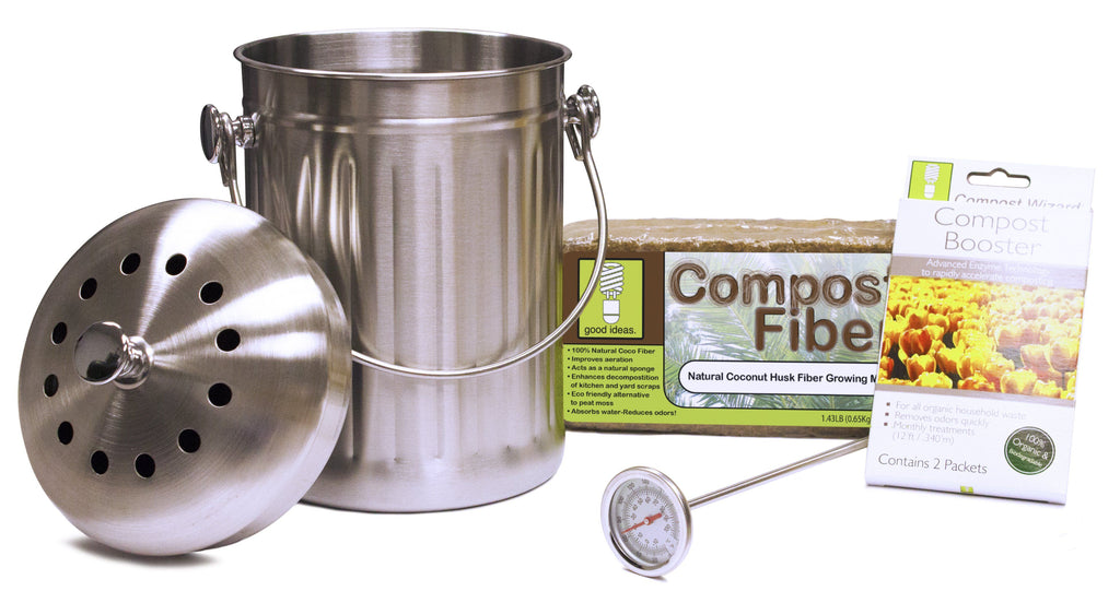Composter Accessories - Good Ideas | Compost Wizard Essentials Kit - Stainless