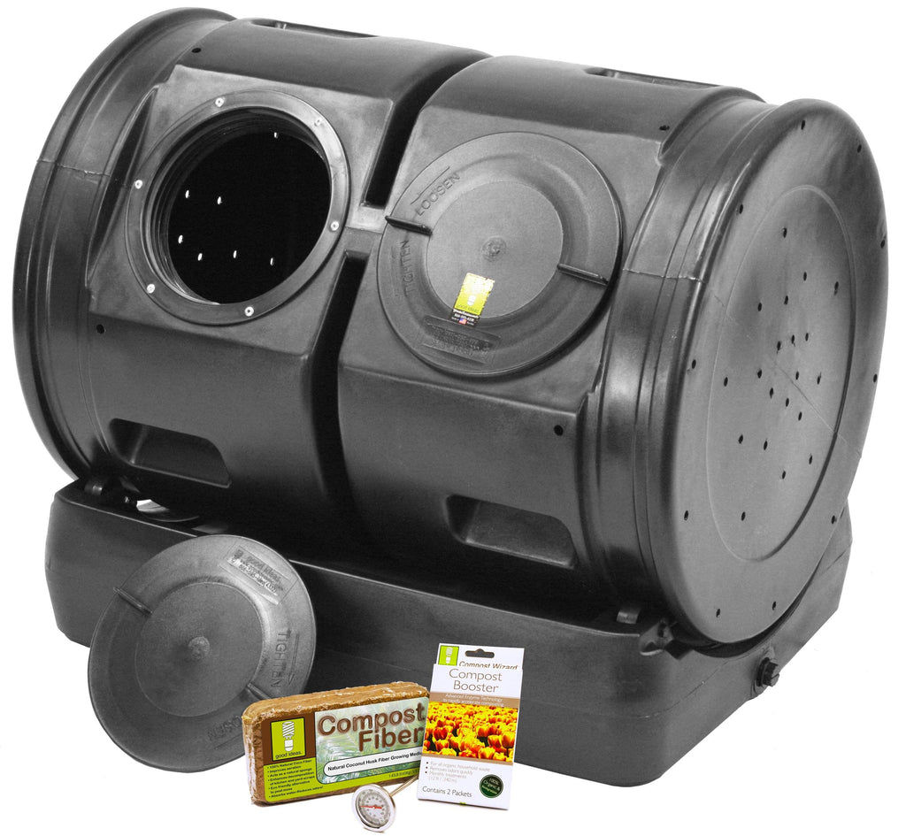 Composter - Good Ideas | Compost Wizard Dueling Tumbler Starter Kit