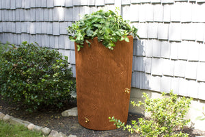 Rain Barrels - Good Ideas | Impressions Bark 90 Gallon Rain Saver