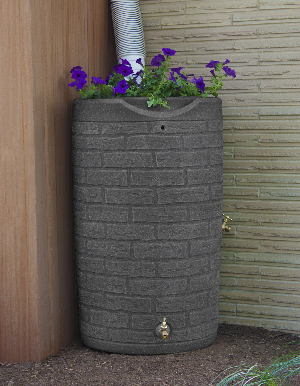 Rain Barrels - Good Ideas | Impressions Downton 50 Gallon Rain Saver