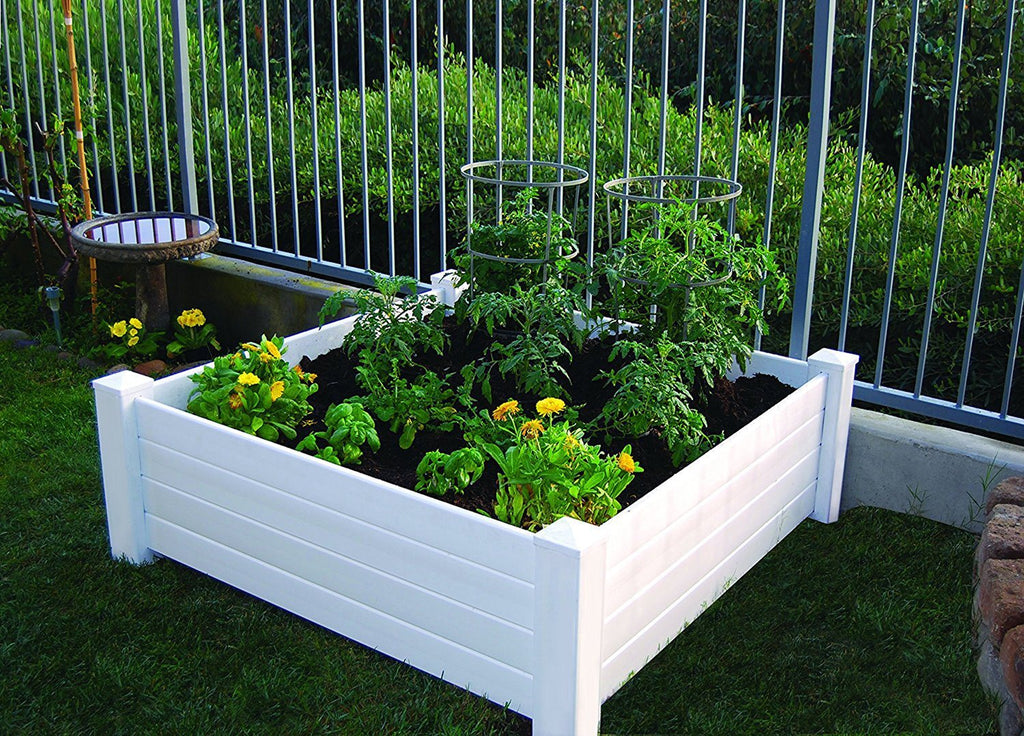 Raised Garden Bed - Good Ideas | Garden Wizard Classic White Raised Garden Bed