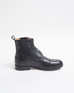 Black Chelsea boots all leather