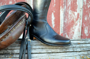 Riding boots for the stables.