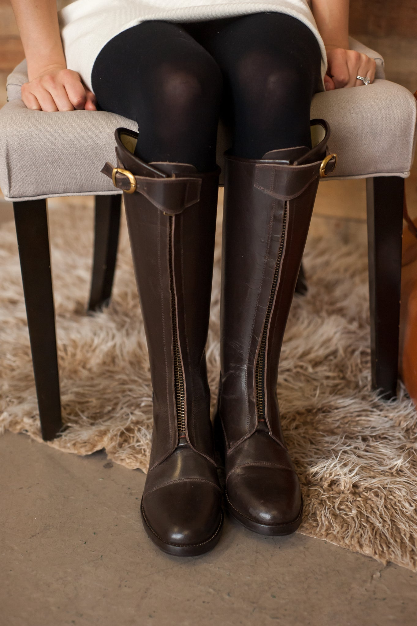 Polo boots in classic dark brown