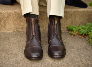 Brown men's Chelsea boots.