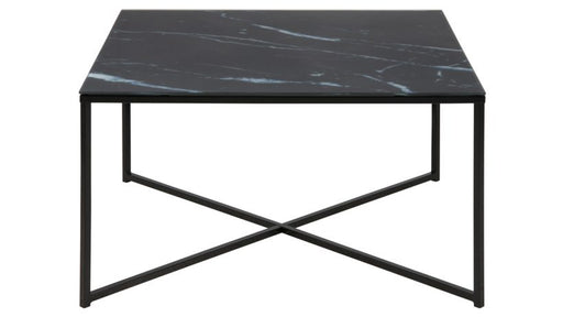 Alisma Coffee Table Black Marble Print